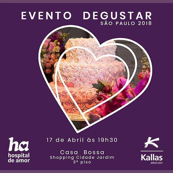Evento Degustar, apoie essa causa você também!