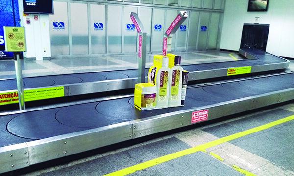 Mock up Kallas Mídia OOH nas Esteiras de Bagagem no Aeroporto de Belém